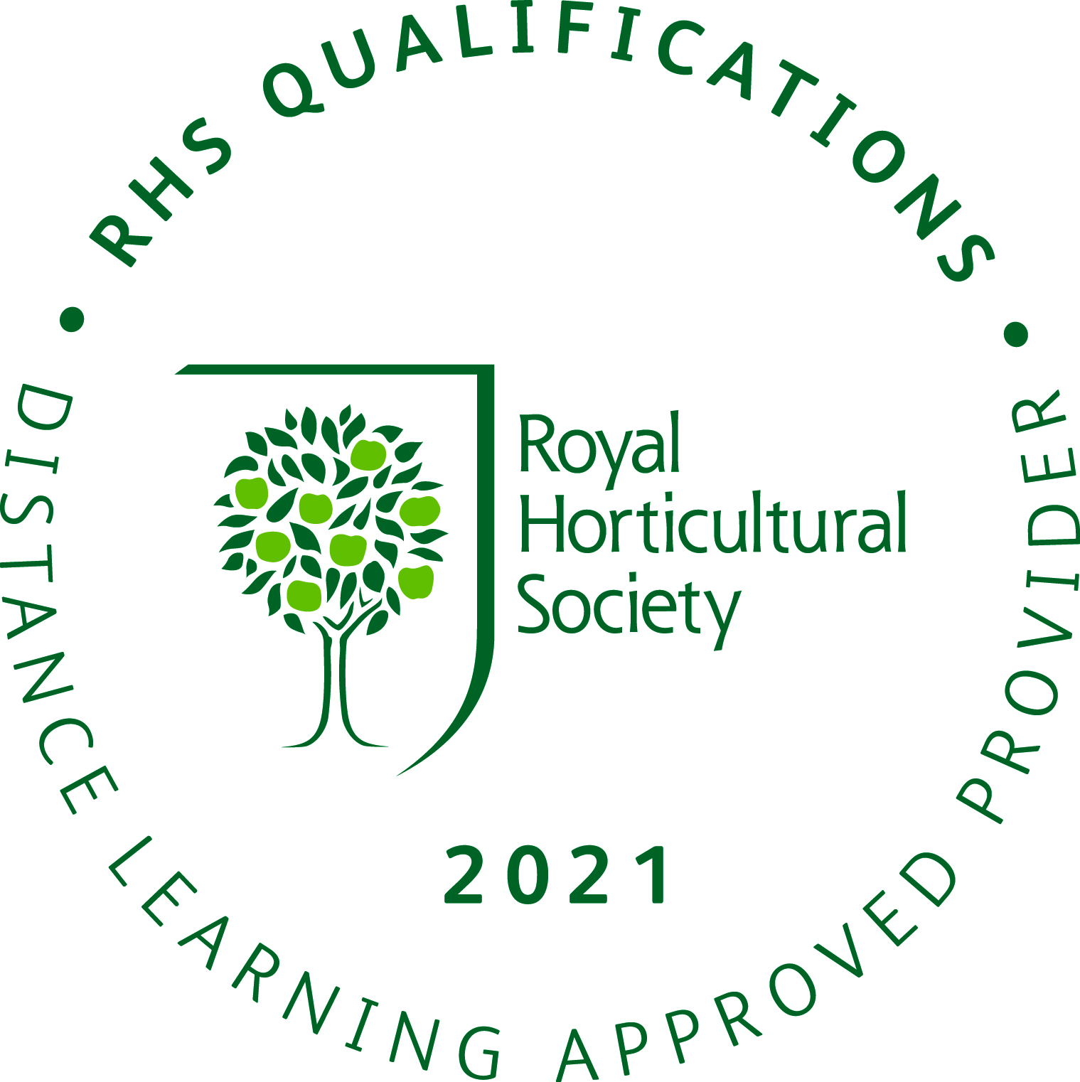RHS Qualifications Distance Learning Approved Provider 2021
